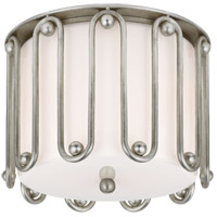 Visual Comfort ARN4021BSL-WG AERIN Molene 2 Light 11 inch Burnished Silver Leaf Flush Mount Ceiling Light Small