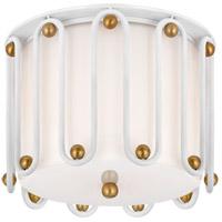 Visual Comfort ARN4021WHT/G-WG AERIN Molene 2 Light 11 inch White and Gild Flush Mount Ceiling Light Small
