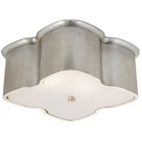 Visual Comfort ARN4041BSL AERIN Bolsena 2 Light 12 inch Burnished Silver Leaf Flush Mount Ceiling Light