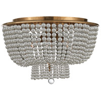 Visual Comfort ARN4102HAB-CG AERIN Jacqueline 4 Light 18 inch Hand-Rubbed Antique Brass Flush Mount Ceiling Light