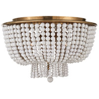 Visual Comfort ARN4102HAB-WG AERIN Jacqueline 4 Light 18 inch Hand-Rubbed Antique Brass Flush Mount Ceiling Light