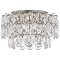 Visual Comfort ARN4170BSL-CG AERIN Liscia 3 Light 15 inch Burnished Silver Leaf Flush Mount Ceiling Light Small