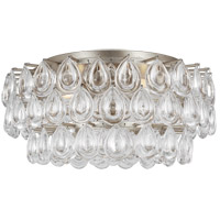 Visual Comfort ARN4171BSL-CG AERIN Liscia 4 Light 19 inch Burnished Silver Leaf Flush Mount Ceiling Light Medium