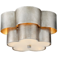 Visual Comfort ARN4306BSL-FG AERIN Arabelle 3 Light 14 inch Burnished Silver Leaf Flush Mount Ceiling Light