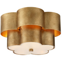 Visual Comfort ARN4306G-FG AERIN Arabelle 3 Light 14 inch Gild Flush Mount Ceiling Light