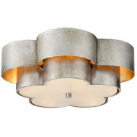 Visual Comfort ARN4307BSL-FG AERIN Arabelle 4 Light 20 inch Burnished Silver Leaf Flush Mount Ceiling Light Large