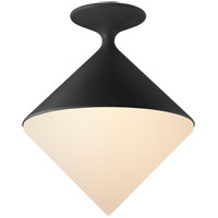 Visual Comfort ARN4355BLK-WG AERIN Sarnen LED 14 inch Matte Black Flush Mount Ceiling Light Small