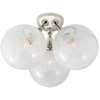 Visual Comfort ARN4401PN-WG AERIN Cristol 3 Light 15 inch Polished Nickel Flush Mount Ceiling Light Large