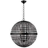 Visual Comfort ARN5002AI AERIN Mill 6 Light 30 inch Aged Iron Globe Lantern Ceiling Light Large