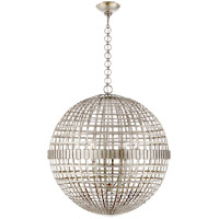 Visual Comfort ARN5002BSL AERIN Mill 6 Light 30 inch Burnished Silver Leaf Globe Lantern Ceiling Light Large
