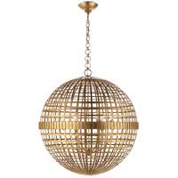 Visual Comfort ARN5002G AERIN Mill 6 Light 30 inch Gild Globe Lantern Ceiling Light Large