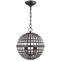 Visual Comfort ARN5003AI AERIN Mill 4 Light 16 inch Aged Iron Globe Lantern Ceiling Light Small