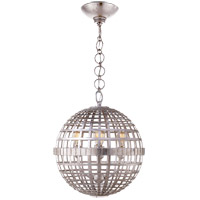 Visual Comfort ARN5003BSL AERIN Mill 4 Light 16 inch Burnished Silver Leaf Globe Lantern Ceiling Light Small