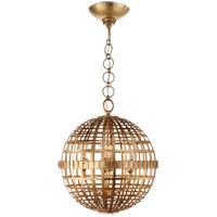 Visual Comfort ARN5003G AERIN Mill 4 Light 16 inch Gild Globe Lantern Ceiling Light Small