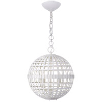 Visual Comfort ARN5003PW AERIN Mill 4 Light 16 inch Plaster White Globe Lantern Ceiling Light Small