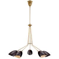 Visual Comfort ARN5010HAB-BLK AERIN Sommerard 5 Light 46 inch Hand-Rubbed Antique Brass Chandelier Ceiling Light Medium