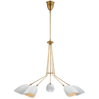 Visual Comfort ARN5010HAB-WHT AERIN Sommerard 5 Light 46 inch Hand-Rubbed Antique Brass Chandelier Ceiling Light Medium