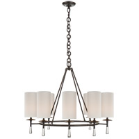 Visual Comfort ARN5018BZ/CG-L AERIN Drunmore 8 Light 33 inch Bronze Chandelier Ceiling Light, Large