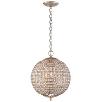 Visual Comfort ARN5100BSL-CG AERIN Renwick 4 Light 19 inch Burnished Silver Leaf Sphere Chandelier Ceiling Light Small