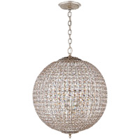 Visual Comfort ARN5101BSL-CG AERIN Renwick 4 Light 23 inch Burnished Silver Leaf Sphere Chandelier Ceiling Light Large