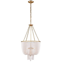 Visual Comfort ARN5102HAB-WG AERIN Jacqueline 4 Light 19 inch Hand-Rubbed Antique Brass Chandelier Ceiling Light