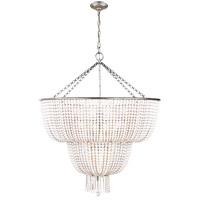 Visual Comfort ARN5104BSL-WG AERIN Jacqueline 12 Light 32 inch Burnished Silver Leaf Two-Tier Chandelier Ceiling Light