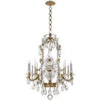 Visual Comfort ARN5108HAB-CG AERIN Vestry 12 Light 41 inch Hand-Rubbed Antique Brass Chandelier Ceiling Light