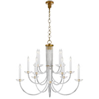 Visual Comfort ARN5116HAB-CG AERIN Wharton 15 Light 38 inch Hand-Rubbed Antique Brass Chandelier Ceiling Light