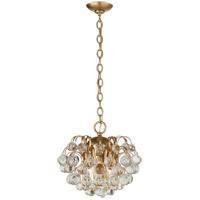 Visual Comfort ARN5122HAB-CG AERIN Bellvale 6 Light 15 inch Hand-Rubbed Antique Brass Chandelier Ceiling Light Small