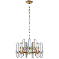 Visual Comfort ARN5124HAB-CG AERIN Bonnington 12 Light 24 inch Hand-Rubbed Antique Brass Chandelier Ceiling Light