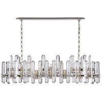 Visual Comfort ARN5127PN-CG AERIN Bonnington 24 Light 55 inch Polished Nickel Linear Chandelier Ceiling Light Large