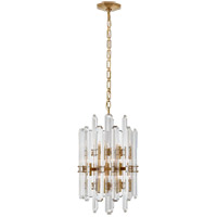 Visual Comfort ARN5128HAB AERIN Bonnington 12 Light 16 inch Hand-Rubbed Antique Brass Chandelier Ceiling Light Tall