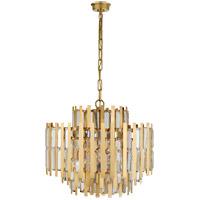Visual Comfort ARN5145HAB-CG AERIN Ambrois 13 Light 30 inch Hand-Rubbed Antique Brass Chandelier Ceiling Light Medium