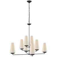 Visual Comfort ARN5205AI-L AERIN Fontaine 8 Light 39 inch Aged Iron Offset Chandelier Ceiling Light Large