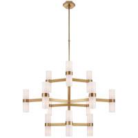 Visual Comfort ARN5272HAB-WG AERIN Margita 24 Light 45 inch Hand-Rubbed Antique Brass Chandelier Ceiling Light Medium