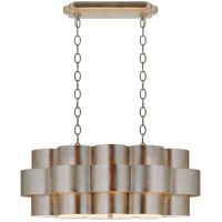Visual Comfort ARN5307BSL AERIN Arabelle 6 Light 35 inch Burnished Silver Leaf Oval Hanging Shade Ceiling Light Large