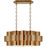 Visual Comfort ARN5307G AERIN Arabelle 6 Light 35 inch Gild Oval Hanging Shade Ceiling Light Large