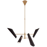 Visual Comfort ARN5410HAB-BLK AERIN Franca LED 48 inch Hand-Rubbed Antique Brass Pivoting Chandelier Ceiling Light Small