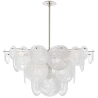 Visual Comfort ARN5450PN-WSG AERIN Loire 9 Light 37 inch Polished Nickel Chandelier Ceiling Light Large