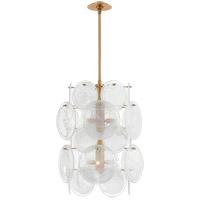 Visual Comfort ARN5451G-WSG AERIN Loire 6 Light 20 inch Gild Barrel Chandelier Ceiling Light Medium