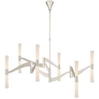 Visual Comfort ARN5472PN-CG AERIN Brenta LED 54 inch Polished Nickel Chandelier Ceiling Light Grande