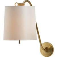 Visual Comfort Barbara Barry Understudy 1 Light Decorative Wall Light in Soft Brass BBL2010SB-S
