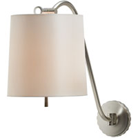 Visual Comfort Barbara Barry Understudy 1 Light Decorative Wall Light in Soft Silver BBL2010SS-S