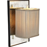 Visual Comfort Barbara Barry Sunset Plaza 1 Light Decorative Wall Light in Soft Silver BBL2016BLK/SS-GS