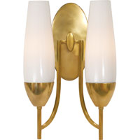 Visual Comfort Barbara Barry Bowmont 1 Light Bath Wall Light in Soft Brass BBL2021SB-WG