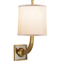 Visual Comfort Barbara Barry Petal 1 Light Decorative Wall Light in Soft Brass BBL2025SB-S