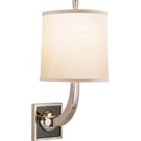 Visual Comfort Barbara Barry Petal 1 Light Decorative Wall Light in Soft Silver BBL2025SS-S