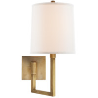 Visual Comfort Barbara Barry Aspect 1 Light Swing-Arm Wall Light in Soft Brass BBL2028SB-L