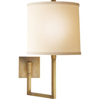 Visual Comfort Barbara Barry Aspect 1 Light Swing-Arm Wall Light in Soft Brass BBL2029SB-L