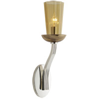 Visual Comfort BBL2032SS-AMB Barbara Barry All Aglow 1 Light 4 inch Soft Silver Decorative Wall Light in Amber Glass